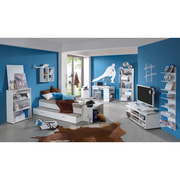 Felix White Childrens Study Bedroom Furniture Set 17498