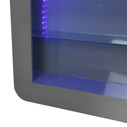Fiesta Bar Table Unit In High Gloss Grey With LED Lights_8