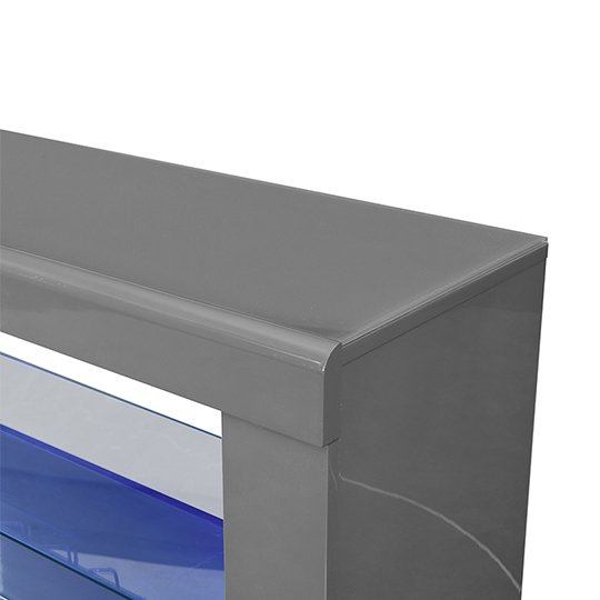 Fiesta Bar Table Unit In High Gloss Grey With LED Lights_10