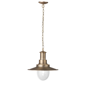 Fisherman XL Ceiling Light In Bronze And Seeded Glass