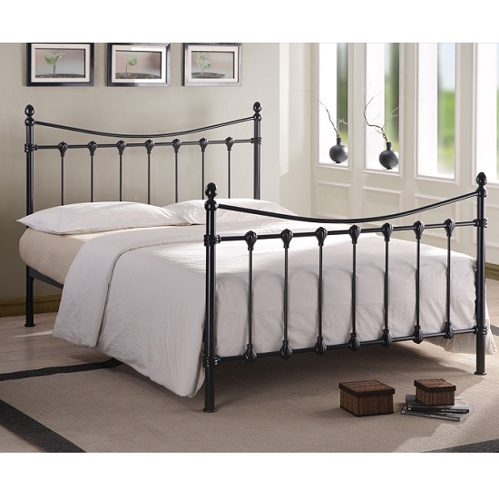 Florida Classic Metal Bed In Black 27142 Furniture In