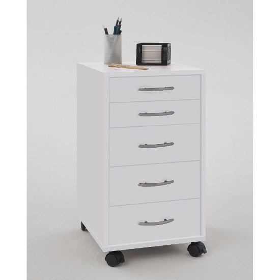 Contemporary White Office Cabinet Freddy 5473 Furniture In