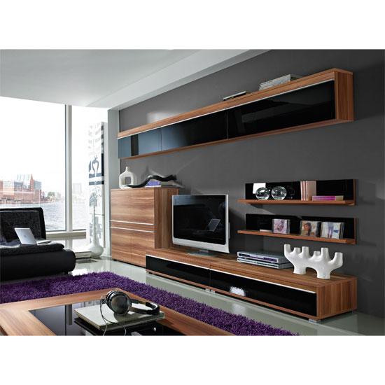 Freestyle walnut room setting 5 buy living room for Walnut furniture living room