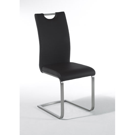 Paulo Black Faux Leather Dining Chair With Handle Hole : Freisteller Paulo schwarz M from goodshousehold.uk size 550 x 550 jpeg 13kB