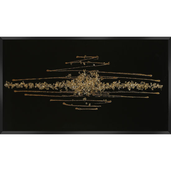Black And Gold Wall Art amaze glass wall art in black with champagne glitter