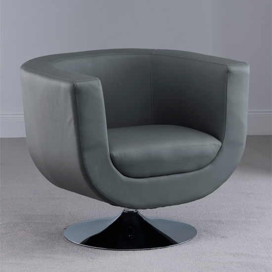 Havana Swivel Grey Faux Leather Tub Chair : GREY tub chair HAV01gry from furniturecompare.uk size 550 x 550 jpeg 128kB