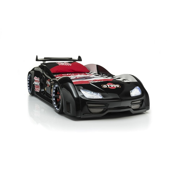 GT999 Black Car Bed Led - 6 Tips On Choosing Race Car Youth Beds