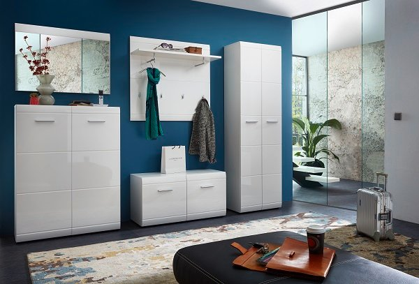 Adrian Wardrobe In White With Gloss Fronts And 2 Doors_5