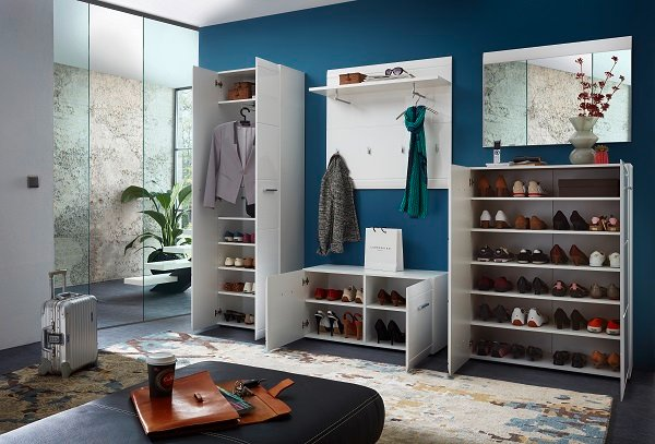 Adrian Wardrobe In White With Gloss Fronts And 2 Doors_6