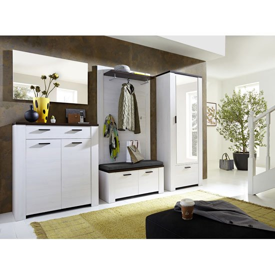 Read more about Hampton hallway furniture set in larch and oak havanna