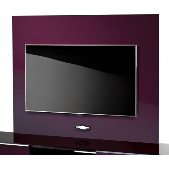 Read more about Damian tv background plate in high gloss