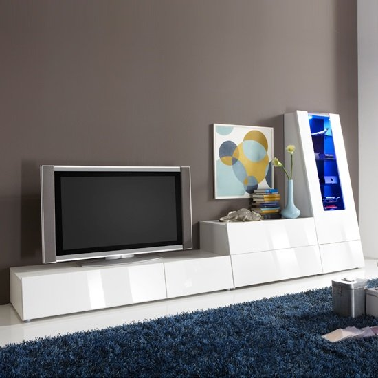Read more about Gala entertainment tv stands high gloss white set1
