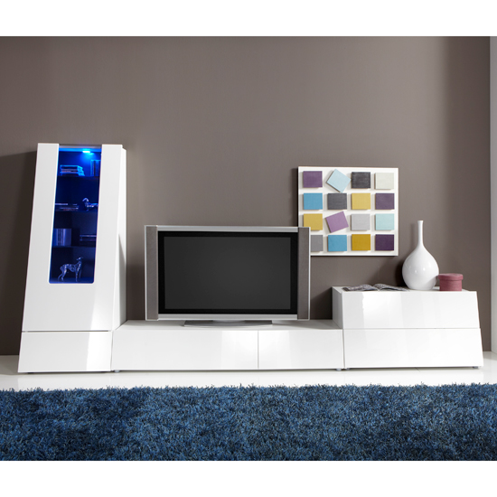 Gala High Gloss White Entertainment Set 3