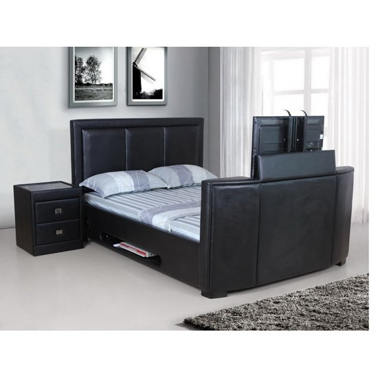 tv stands for the end of beds 5 functional good ideas. Black Bedroom Furniture Sets. Home Design Ideas