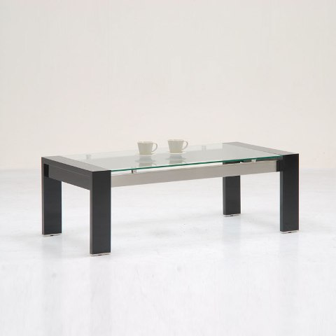 Onyx High Gloss Coffee Table Rectangular In Black