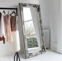 Gallery Carved Louis Leaner Wall Mirror Silver1 - 9 Ideas On How To Make A Wall Of Mirrors Truly Impressive