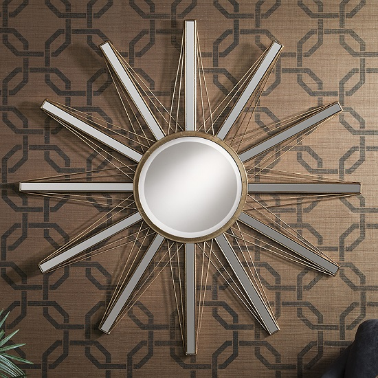 Gallery Flaire Starburst Mirror - Wall Mirrors: Dining Room Decoration Ideas That Really Sparkle