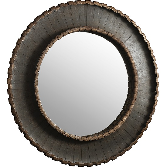 Nuremberg Wall Mirror Round In Rustic Aged Metal_2