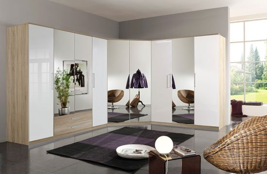 White Wardrobes with Drawers