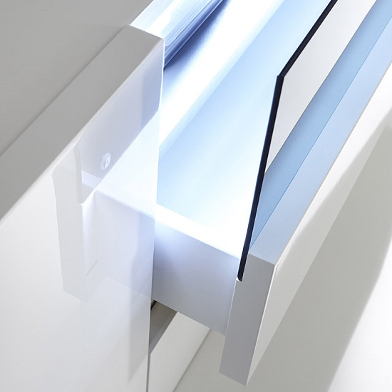 Genie Sideboard In High Gloss White With LED Lighting_4