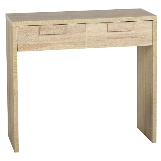 Gambon 2 Drawer Console Table In Sonoma Oak Finish