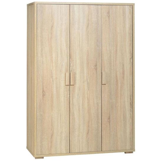 Gambon 3 Door Wardrobe In Sonoma Oak Finish