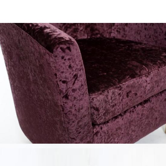 Brisk Tub Chair With Stool In Crushed Velvet Grape 27351