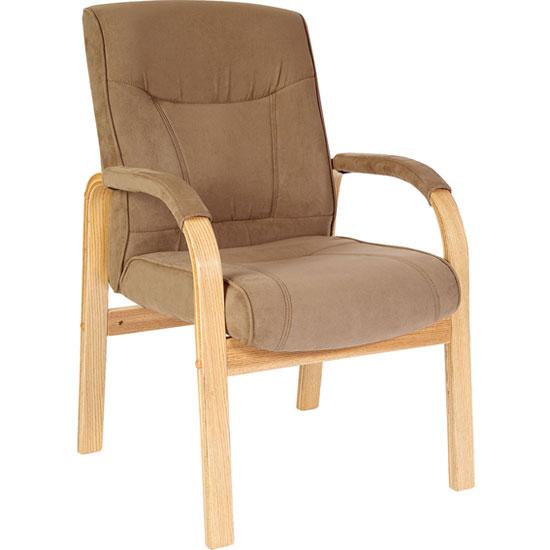 Guildford Suede Effect Reception Visitors Armchair