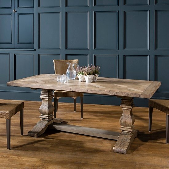 Hamlet Pedestal Dining Table Rectangular In Solid Ash