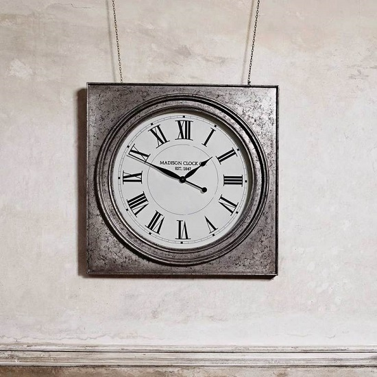 Roza Traditional Square Wall Clock_1