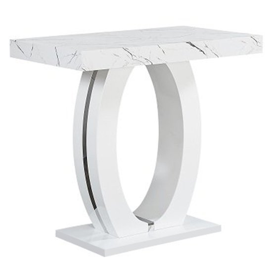 Halo Bar Table In Shiny Vida Finish 4 Ripple Black Bar Stools_2