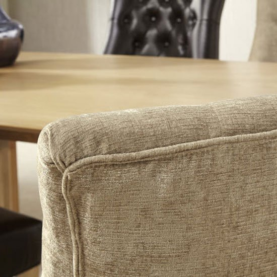 Milena Dining Chair In Mink Fabric With Oak Legs in A Pair_6