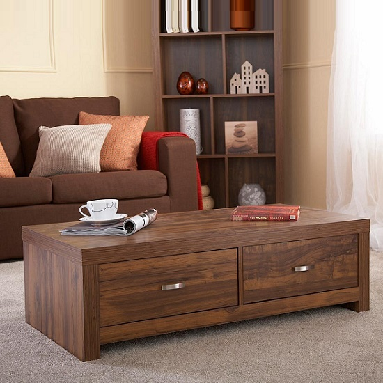 Halstead Coffee Table Rectangular In Warm Acacia Wood Effect