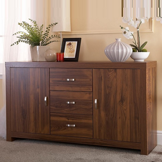 Halstead Sideboard Rectangular In Warm Acacia Wood Effect