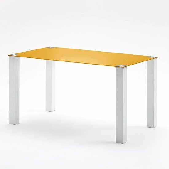 Hanna large modern dining table rectangular in petrol glass for Table hanna
