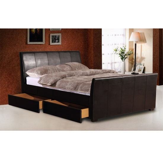 Harrogate PU 4 Drawer Bed - 8 Great Examples Of Furniture With Hidden Compartments Essential For A Small Home