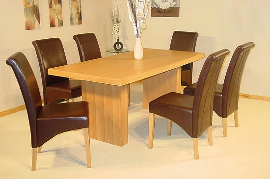 Havana Small Oak Veneer Dining Table with 4 Chairs Buy  : Havana Large dining set from www.furnitureinfashion.net size 550 x 365 jpeg 30kB