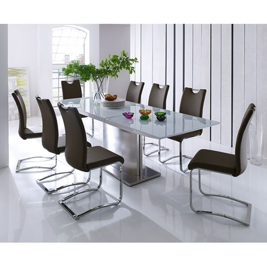 Helio Extendable Glass Dining Table With 8 Koln Brown : Helio 8 Koeln B from www.furnitureinfashion.net size 550 x 550 jpeg 48kB