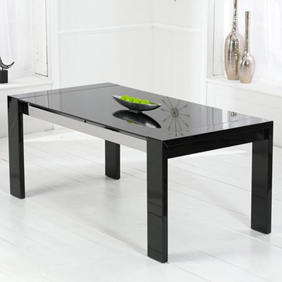 Toscana White High Gloss Coffee Table: Lexus High Gloss Black Glass Sideboard