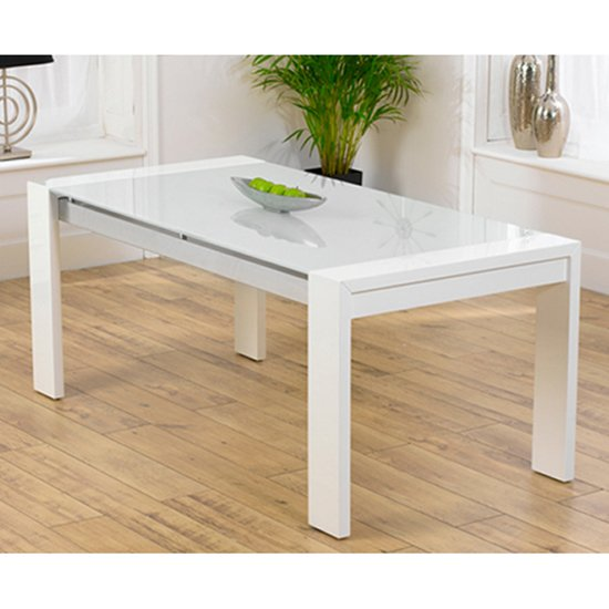 Lexus High Gloss White Glass Dining Table Only 13175 : High Gloss Cannes White Table from www.furnitureinfashion.net size 550 x 550 jpeg 40kB
