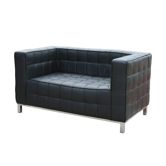 Hoffman 2 Seater Style Sofa In Black