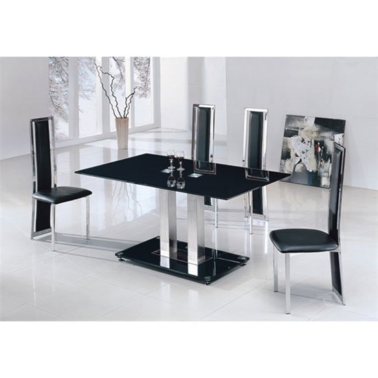 Black Glass Kitchen Table And Chairs: Buy Dining Room Furniture For Sale, Furnitureinfashion UK