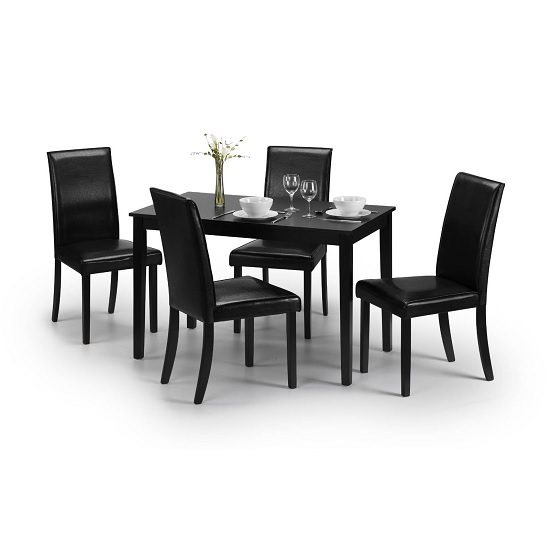 Hudson 4Seater Dining Set Julian Bowen - 10 Furniture Ideas To Put In Blank Space Of Living Room