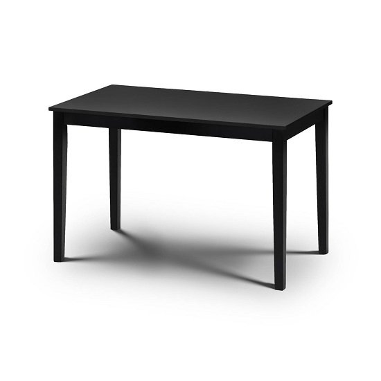 Simister Dining Table In Black With 4 Dining Chairs_2
