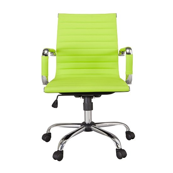 Medlin Home fice Chair In Lime Green Faux Leather And Cast