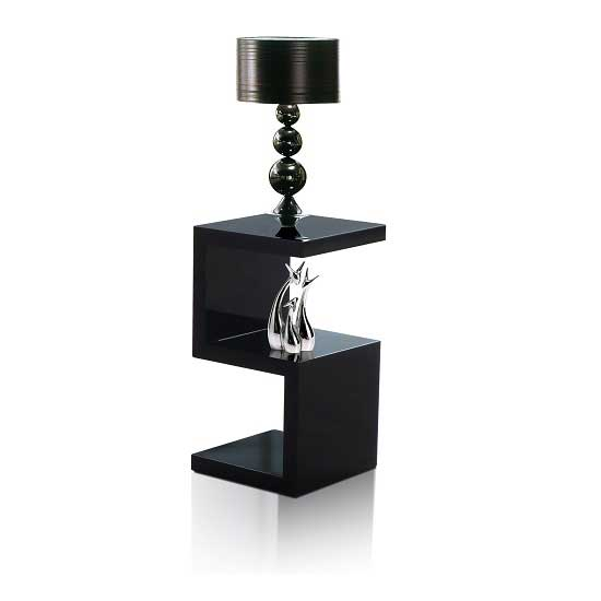Miami Modern Side Table In Black High Gloss 26175 Furniture