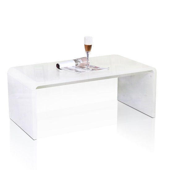 Toscana Coffee Table Rectangular In White High Gloss_2