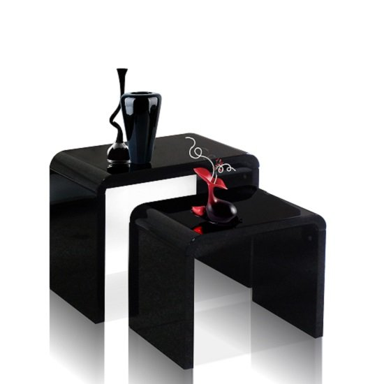 Toscana Nest of Tables In Black High Gloss_2