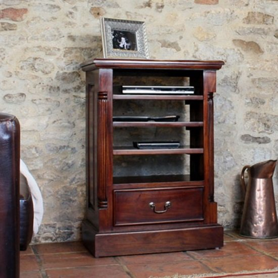 Belarus Hi Fi Entertainment Cabinet In Mahogany