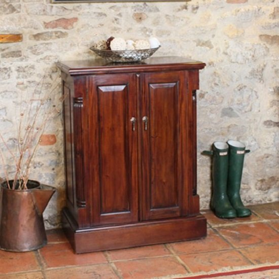Belarus Mahogany Shoe Storage Cupboard With 2 Doors